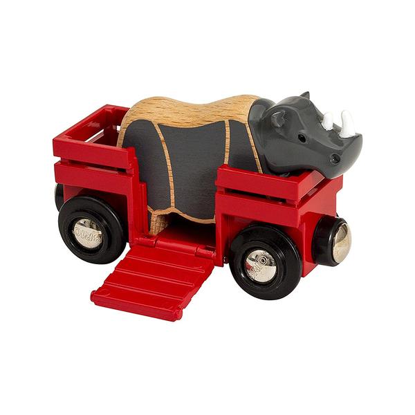 Brio играчка Rhino and wagon