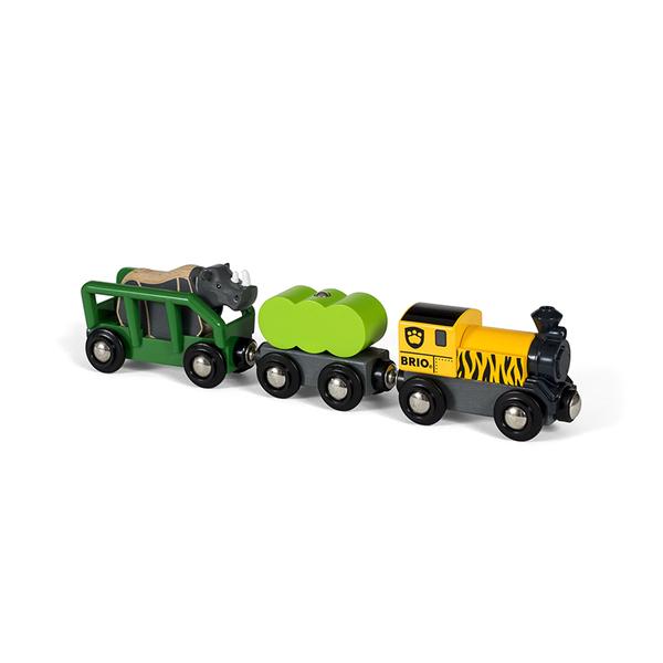 Brio играчка сафари Rhino train