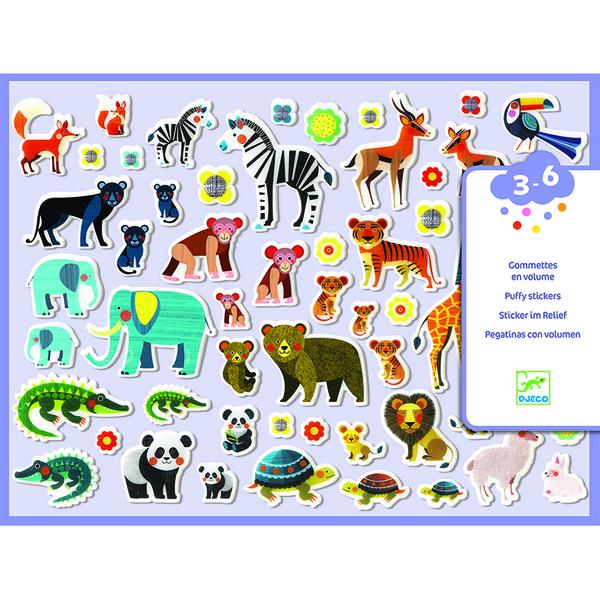 Djeco стикери малки и големи животни