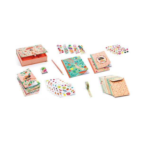 Djeco комплект картички, стикери и тетрадки Marie