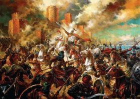 Пъзел от 1000 части Black Sea Puzzles - Хан Тервел разгромява арабите, Васил Горанов
