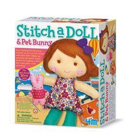 Творчески комплект 4M - Уший си Кукла със зайче