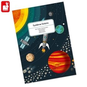 Janod Детски образователен пъзел Слънчевата система J02678