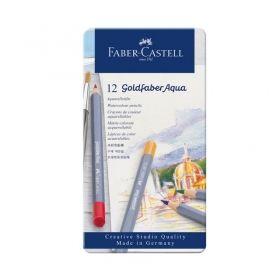 Комплект акварелни моливи Faber-Castell Goldfaber Aqua, 12 цвята