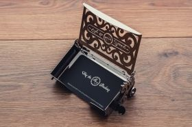 Метален 3D пъзел с механизъм Time for Machine - Кутия за визитки