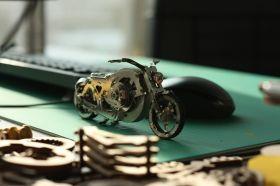 Метален 3D пъзел с механизъм Time for Machine - Хромиран ездач