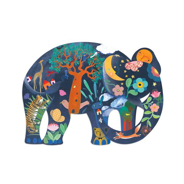 Djeco арт пъзел слон