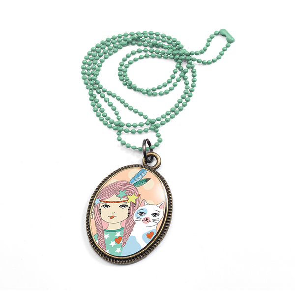 Djeco колие Lovely sweet medaille Lucille