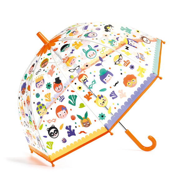 Djeco чадър Faces сменящи се цветове
