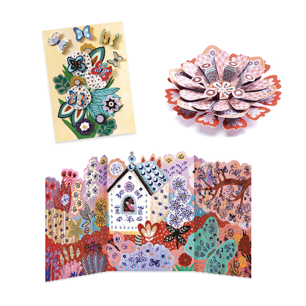 Djeco креативен комплект Цветна градина