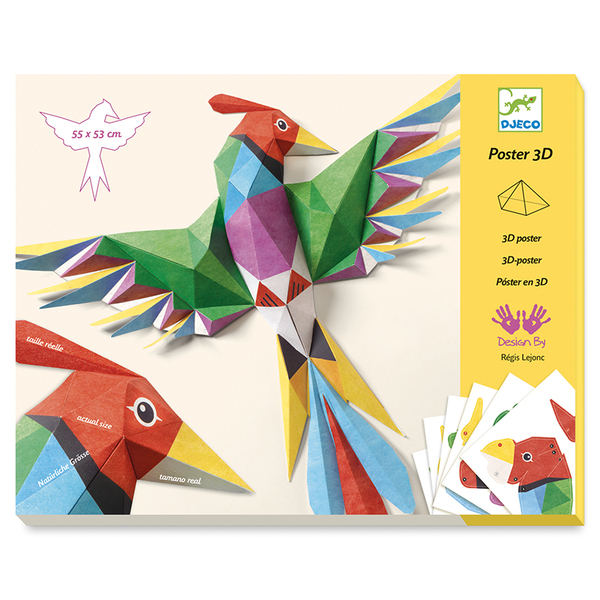 Djeco направи от хартия 3D постер Amazonie
