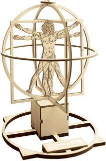 Сглобяем модел Revell - Леонардо Да Винчи - Витрувиански човек, дървен