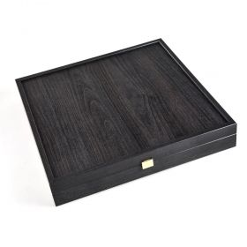 Луксозен шах Manopoulos - Staunton, кафяво и златисто, 44x44 см