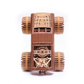 Механичен 3D пъзел Wood Trick - Monster Truck, 556 части