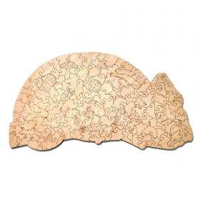 Дървен пъзел Wood Trick - Хамелеон, 143 части