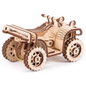 Механичен 3D пъзел Wood Trick - ATV, 57 части