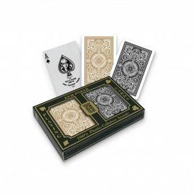 Карти за игра KEM poker Jumbo index Black & Gold