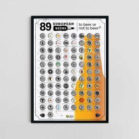 Скреч постер 89 европейски бири Fix Idea