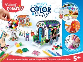 Творчески комплект Maped - Оцвети и играй - Направи си карети
