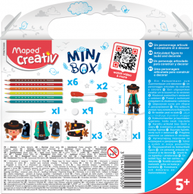 Творчески комплект Maped Mini Box - Направи си плашило