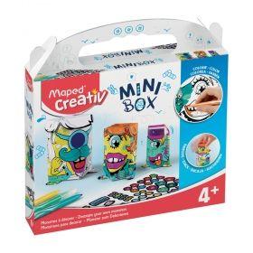 Творчески комплект Maped Mini Box - Направи и декорирай чудовища