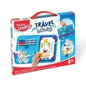 Творчески комплект Maped Travel Board - Папка за рисуване с рицари и принцеси, изтриваема