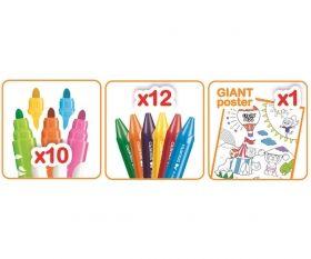 Комплект за рисуване Maped Color' Peps - пастели, маркери и постер