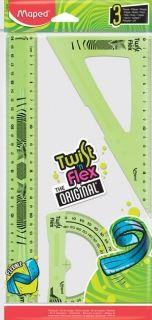 Комплект за чертане Maped - Twist'nFlex Original, различни цветове