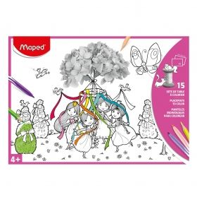 Книжка за оцветяване Maped - 15 илюстрации, 3 различни вида