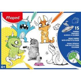 Книжка за оцветяване Maped - A4, 15 илюстрации, 2 различни вида
