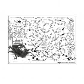 Книжка за оцветяване с игри Maped - Mini Games, 20 листа