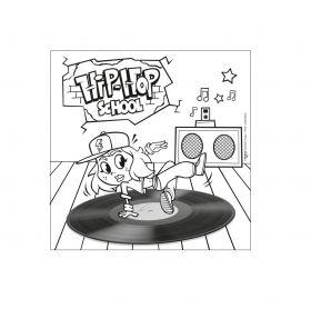 Платно за оцветяване Maped - Hip-Hop School, 20 х 20 см