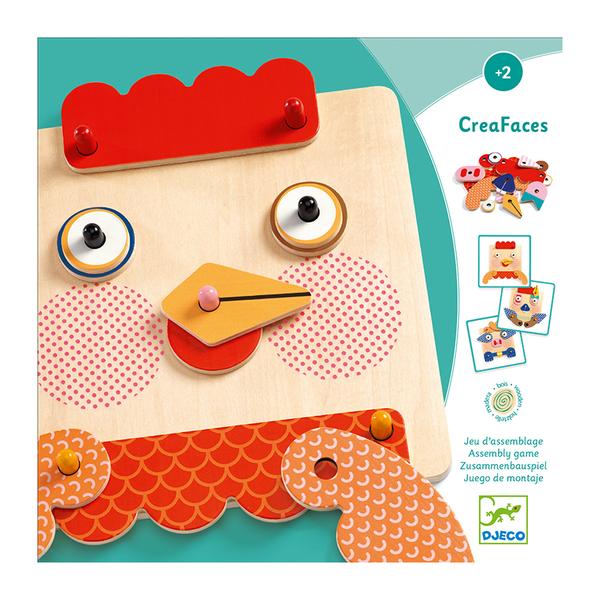 Djeco образователна игра CreaFaces
