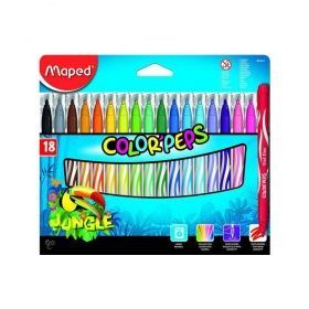 Комплект флумастери Maped - Color' Peps Jungle, 18 броя/цвята