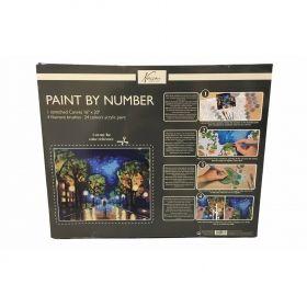 Комплект за рисуване по номера Nassau Paint by Number - Нощен градски пейзаж