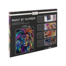 Комплект за рисуване по номера Nassau Paint by Number - Стилизиран лъв