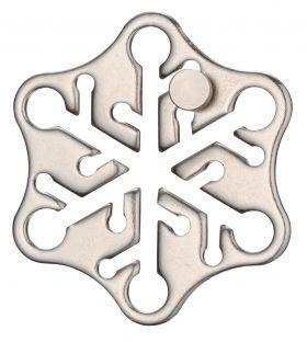 Метален логически пъзел Hanayama - Снежинка