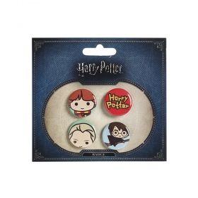 Комплект значки Distrineo Хари Потър - Хари, Драко и Рон