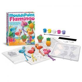 Творчески комплект 4M - Направи отливка и оцвети, Фламинго