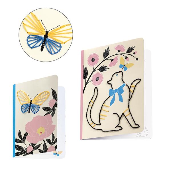 Djeco комплект направи украса за тетрадка Poetic garden