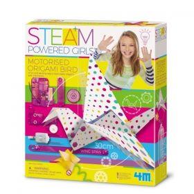Творчески комплект 4M - Направи си моторизирана оригами птица