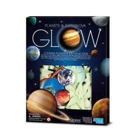 Образователен комплект 4M - Светещи планети и звезди, 100 бр