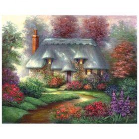 Комплект за рисуване с акрилни бои върху платно Royal Masterpiece - Къща 23х30 см