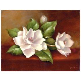 Комплект за рисуване с акрилни бои върху платно Royal Masterpiece - Магнолии 23х30 см