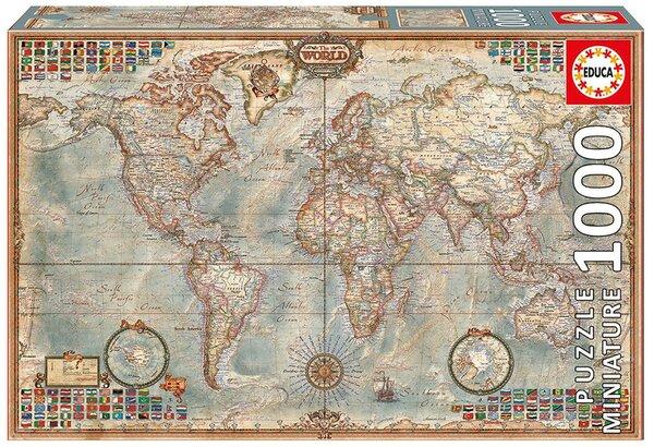 Пъзел Educa от 1000 мини части - Политическа карта на света, миниатюра