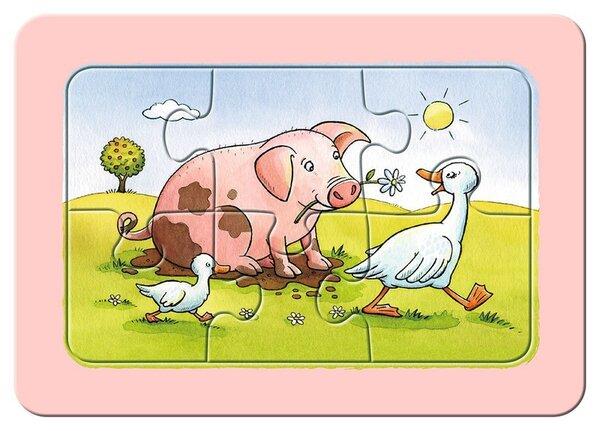 Пъзел Ravensburger от 3 x 6 части - Животинчета приятели