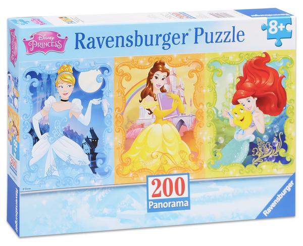 Панорамен пъзел Ravensburger от 200 части - Дисни принцеси