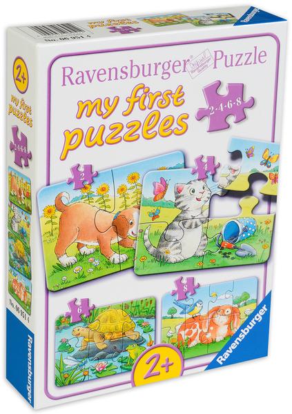 Пъзел Ravensburger 4 в 1 - Сладки животни