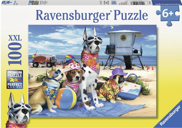 Пъзел Ravensburger от 100 XXL части - Без кучета на плажа