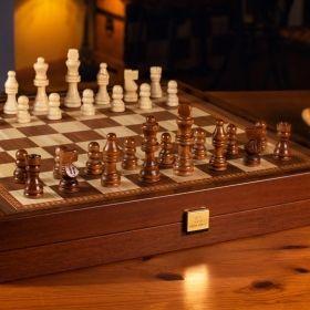 Комплект шах, табла и дама Manopoulos - Classic Style, 41x41 см